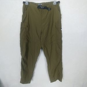 REI 16 Olive Convertible Cargo Zip Shorts/ Pants